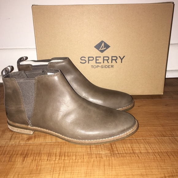 Sperry Seaport Daley Chelsea Boots Dark